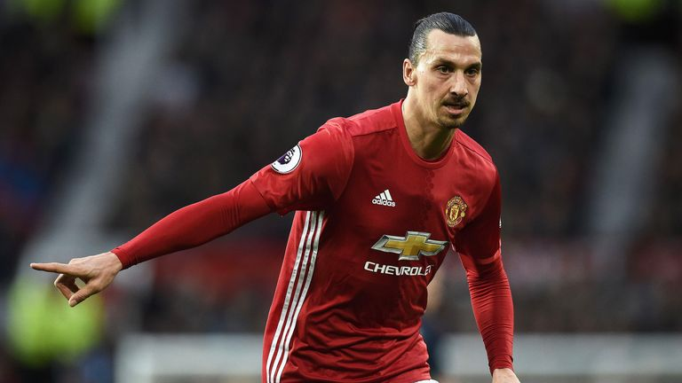 Zlatan Ibrahimovic in action at Old Trafford