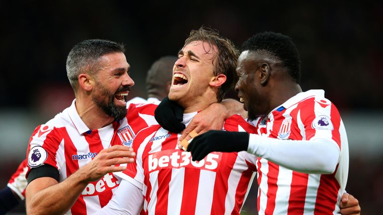 Stoke beat Burnley 2-0 in their last home game, with Marc Muniesa's goal sealing victory