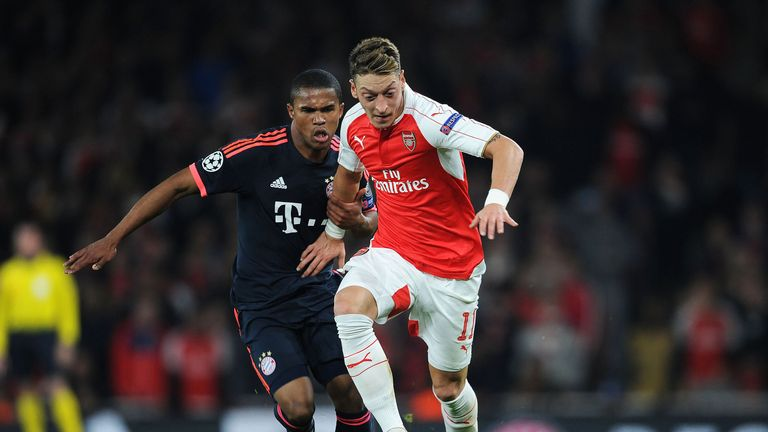 Arsenal will take on Bayern Munich in their Champions League last-16 tie