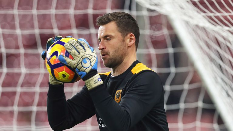 David Marshall is set to play in goal for Hull