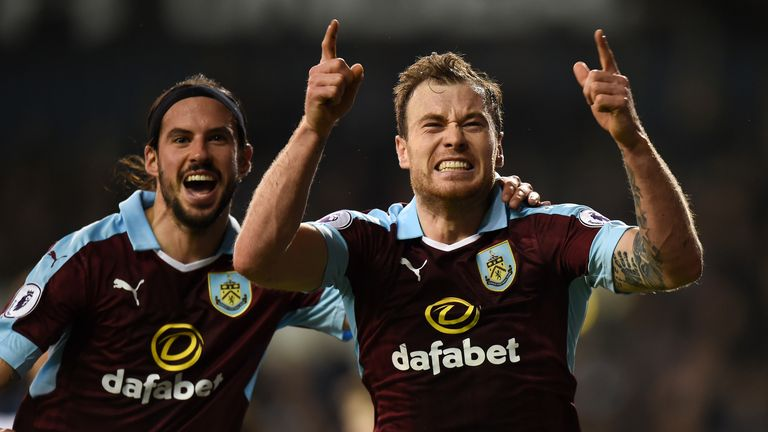 Ashley Barnes gave Burnley a surprise lead