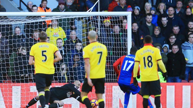 Christian Benteke sees his penalty saved by Heurelho Gomes