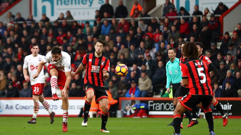 Rodriguez scores his second and Southampton's third goal