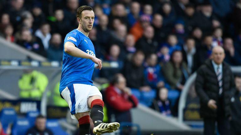 Rangers' Danny Wilson plays the ball