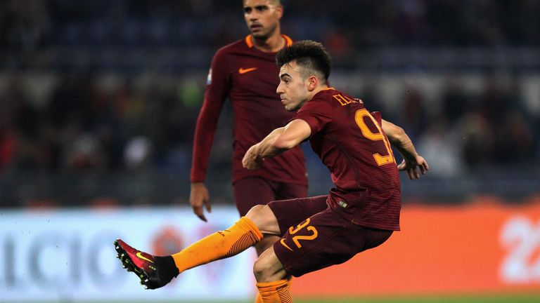 Stefan El Shaarawy scores Roma's first goal against Chievo