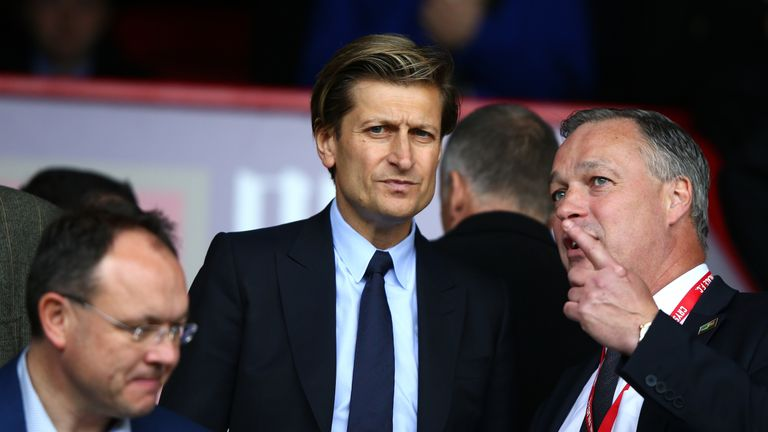 LONDON, UNITED KINGDOM - APRIL 09:  Crystal Palace chairman Steve Parish is seen prior to the Barclays Premier League match between Crystal Palace and Norw