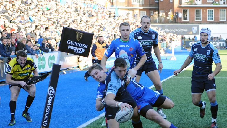Cardiff Blues were 27-16 winners over the Dragons on December 26