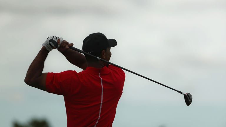 Woods used TaylorMade metals on his competitive comeback last month