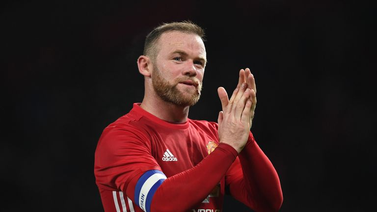 MANCHESTER, ENGLAND - NOVEMBER 30:  Wayne Rooney of Manchester United applauds fans following the EFL Cup quarter final match between Manchester United and