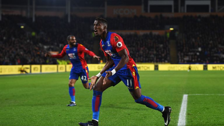 Zaha has been in superb form in recent weeks and has scored six Premier League goals this season