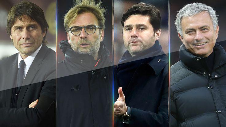 Antonio Conte, Jurgen Klopp, Mauricio Pochettino and Jose Mourinho