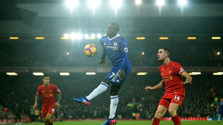 Kante was centre stage in Chelsea's draw against Liverpool on Tuesday
