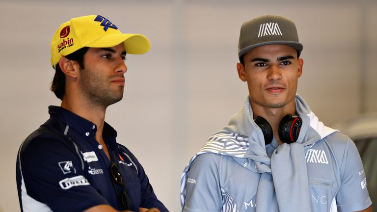 Mercedes protege Pascal Wehrlein (right) takes Felipe Nasr's old seat at Sauber for the new season