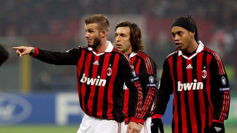Ronaldinho signed for Milan in July 2008 and played alongside the likes of David Beckham and Andrea Pirlo