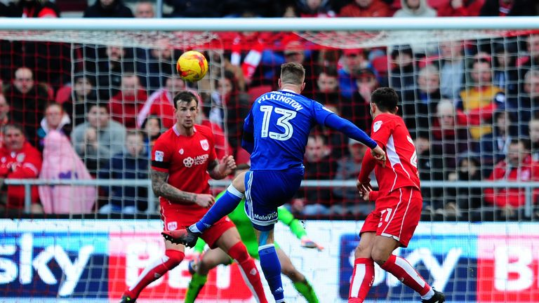 Anthony Pilkington scores Cardiff's winning goal
