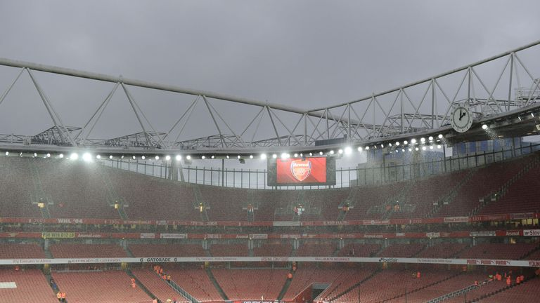 The Emirates ahead of Arsenal v Crystal Palace