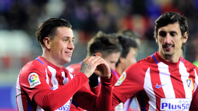 Jose Gimenez (left) could return for Atletico Madrid this week