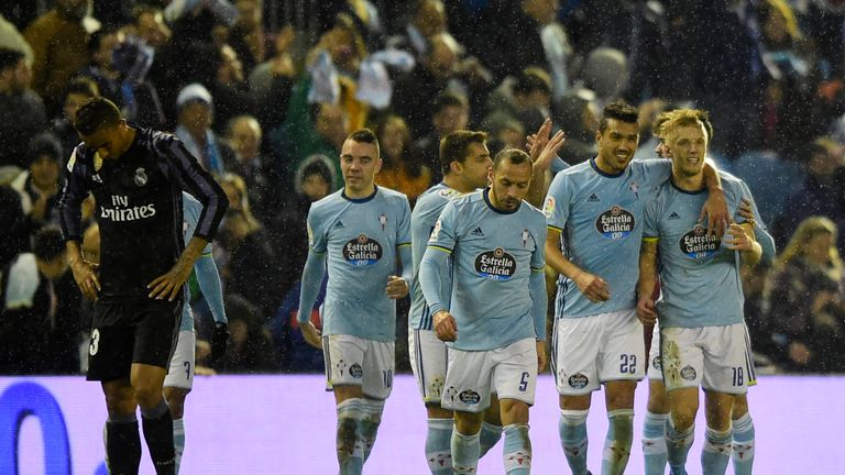 Celta knocked Real Madrid out of the Copa del Rey last month