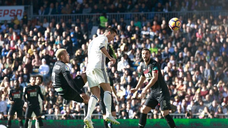 Cristiano Ronaldo heads another goal for Real Madrid