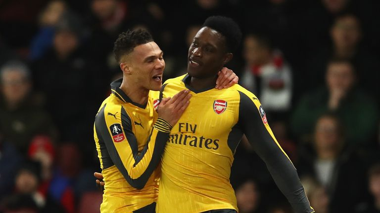 Arsenal romped to a 5-0 win over Southampton in round four
