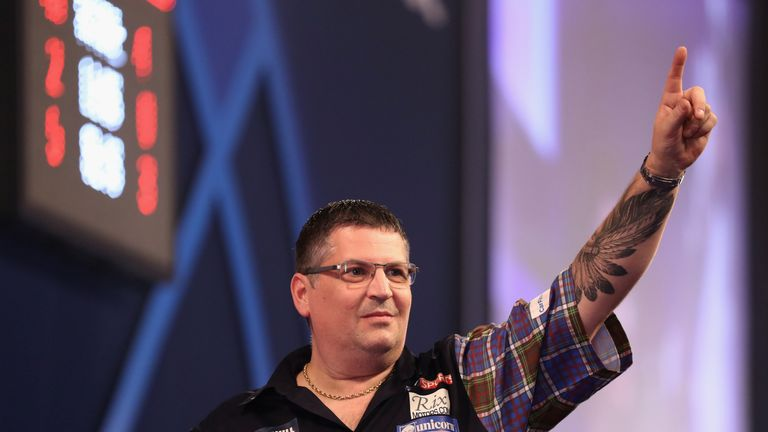The Scot faces Welshman Gerwyn Price in Cardiff on Thursday night
