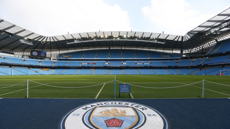 A general view of the Etihad Stadium in Manchester,