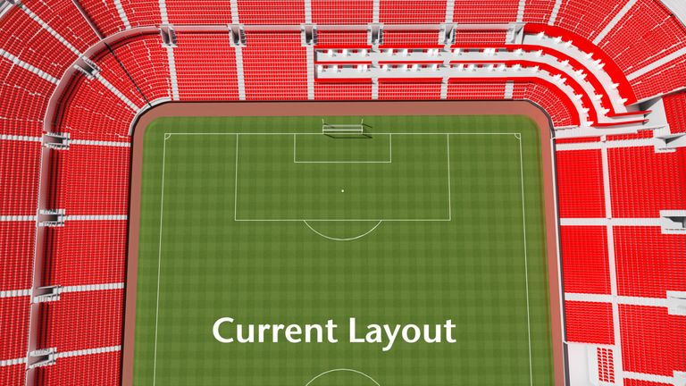 Current seating plan for disabled fans at Old Trafford (Credit: Manchester United Football Club)
