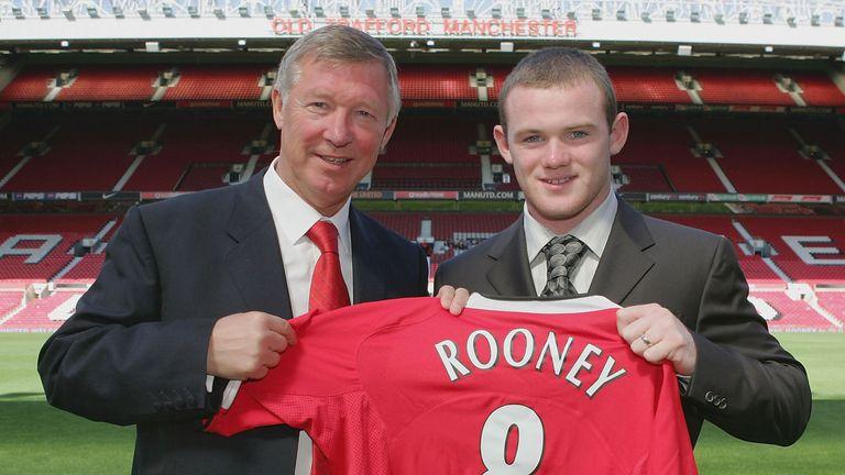 Sir Alex Ferguson signed Wayne Rooney for Manchester United in 2004