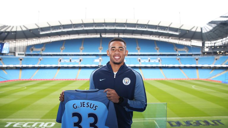Manchester City new signing Gabriel Jesus