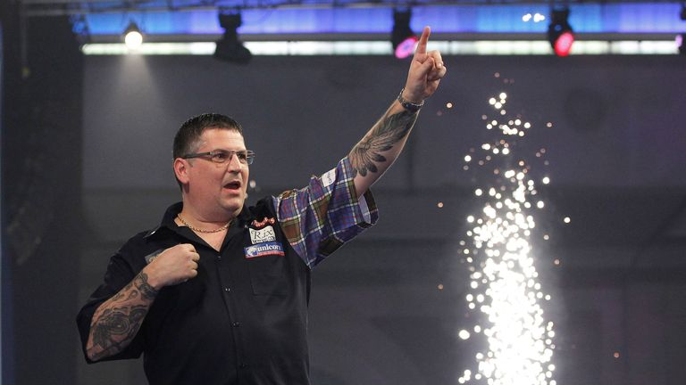 Gary Anderson will go for world title number three at Alexandra Palace on Monday  (Picture by Lawrence Lustig)
