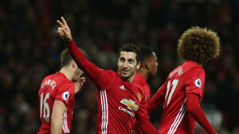 Henrikh Mkhitaryan hailed Manchester United's strength in depth