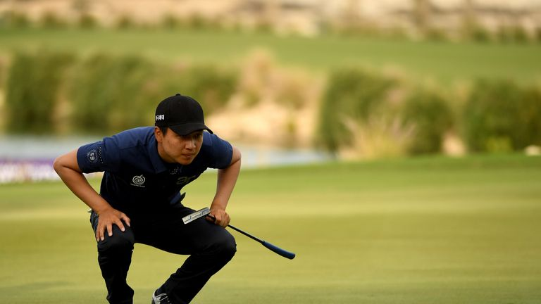 Wang was very happy with his putting as he chases his third European Tour title