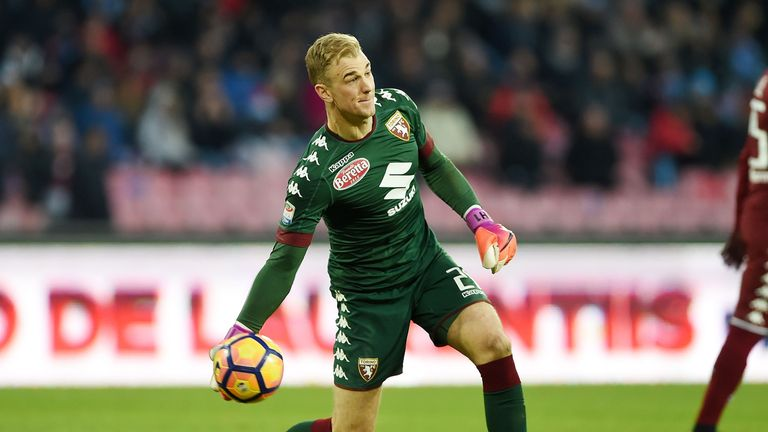 NAPLES, ITALY - DECEMBER 18:  Joe Hart of FC Torino in action during the Serie A match between SSC Napoli and FC Torino at Stadio San Paolo on December 18,