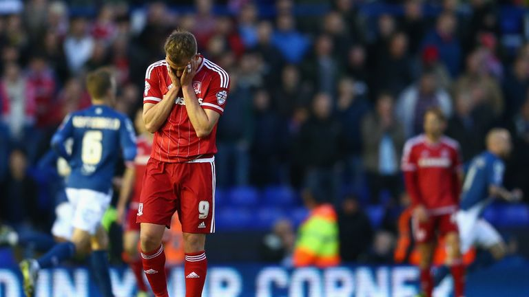 Jordan Rhodes' time at Middlesbrough could be about to end