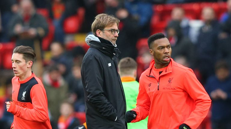 Jurgen Klopp watches on as Liverpool warm up for their FA Cup fourth-round tie against Wolves