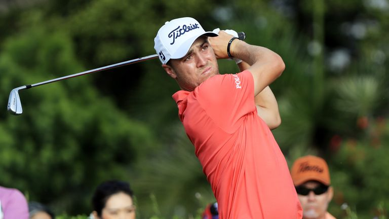 Thomas bogeyed his second hole, but then carded eight birdies and a closing eagle to break 60
