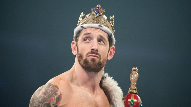 King Barrett edged Neville to the King of the Ring crown