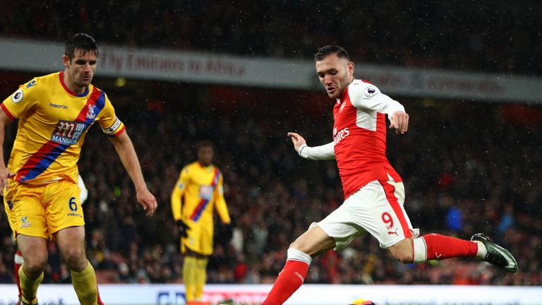 Lucas Perez made only his second Premier League start of the season