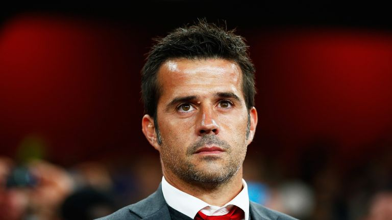 Marco Silva looks on during the UEFA Champions League Group F match against Arsenal