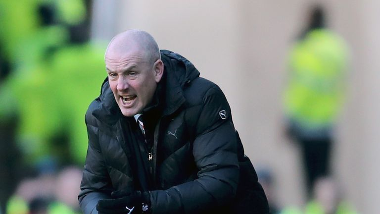 Rangers manager Mark Warburton during the Ladbrokes Scottish Premiership match at the Ibrox Stadium, Glasgow.