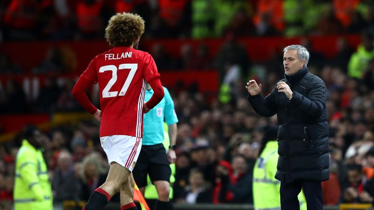 Marouane Fellaini provided Jose Mourinho's side with an aerial target