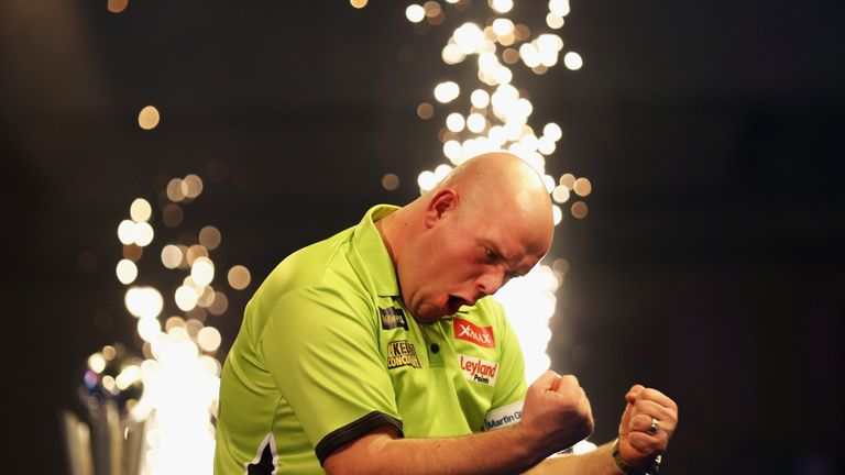 Michael van Gerwen celebrates his second World Darts Championship triumph