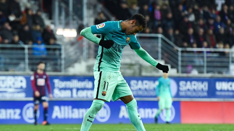 Neymar scored his third goal in three games - but his first in La Liga since October