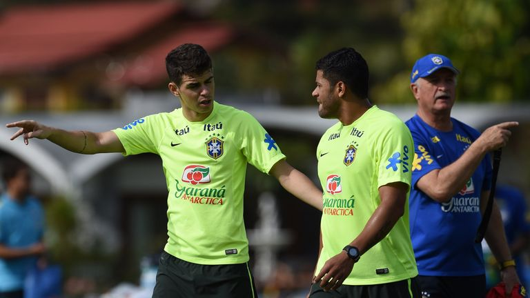 Oscar has joined Brazilian team-mate Hulk at Shanghai