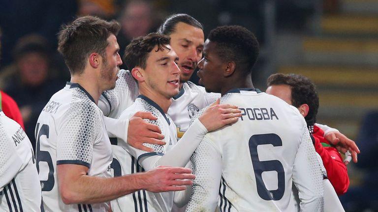Paul Pogba of Manchester United celebrates
