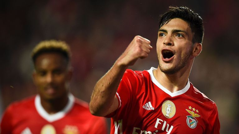 Benfica's Mexican forward Raul Jimenez