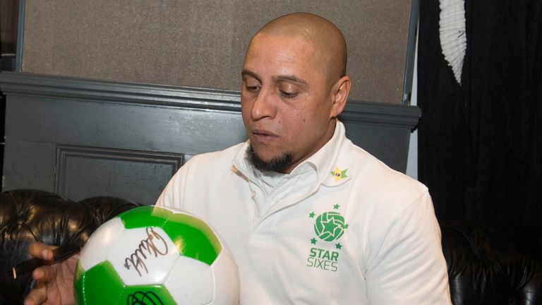 Roberto Carlos was speaking at a media event for the launch of Star Sixes