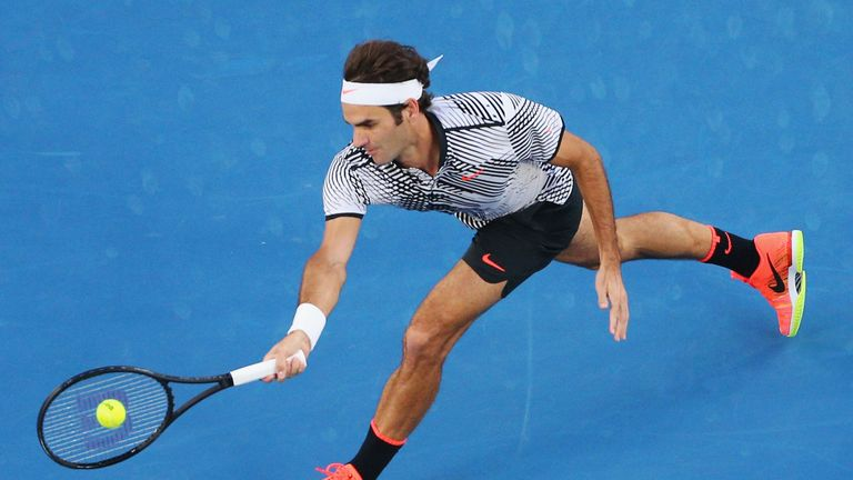 Federer remains on course for an 18th Grand Slam title and first since 2012