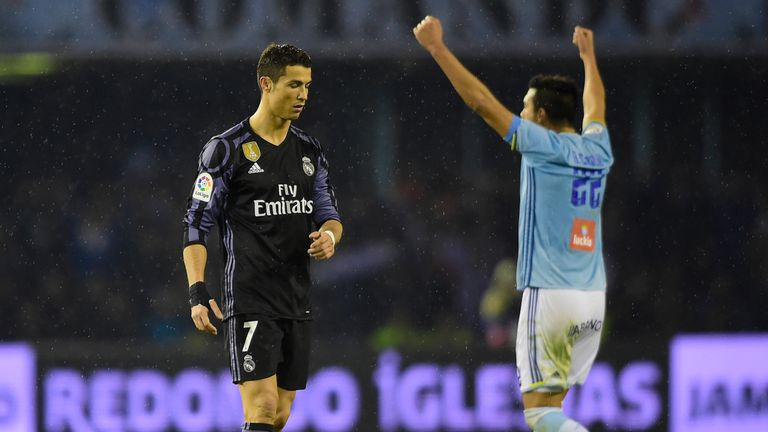 Real Madrid were knocked out of the Copa del Rey after a 2-2 draw  with Celta Vigo