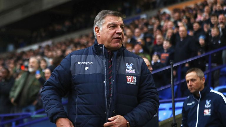 Sam Allardyce is yet to win as Crystal Palace manager
